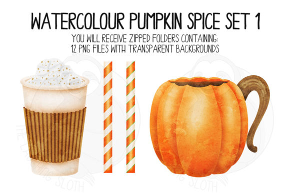Pumpkin Spice Set 1 Graphic Illustrations By The_Laughing_Sloth_Digital - Image 6