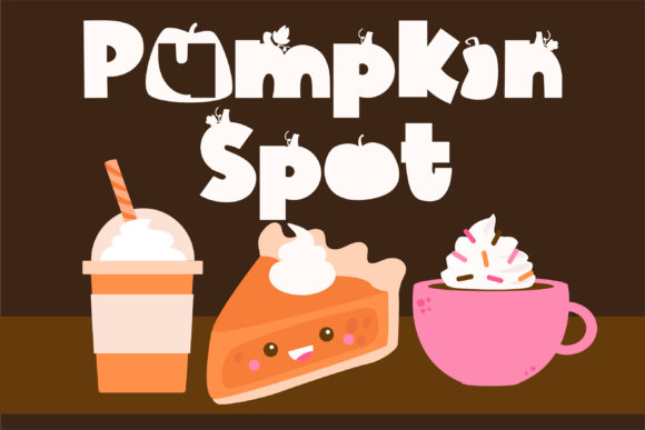 Print on Demand: Pumpkin Spot Display Fuente Por Illustration Ink