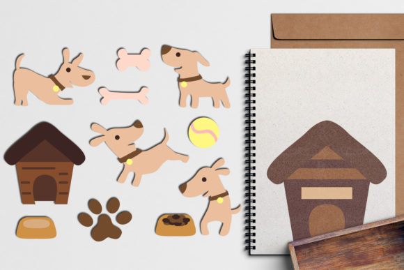 Print on Demand: Puppy Dog Graphic Illustrations By Revidevi