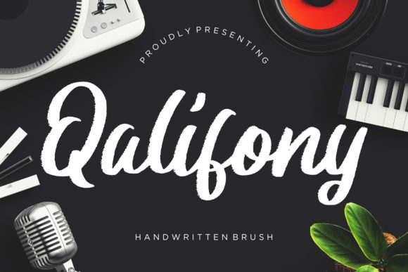 Print on Demand: Qalifony Script & Handwritten Font By CreatypeStudio