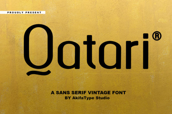 Print on Demand: Qatari Sans Serif Font By akifatype