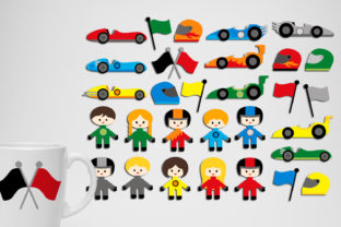 Race Cars and Racers Graphic By Revidevi