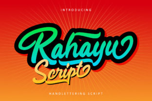 Print on Demand: Rahayu Script Script & Handwritten Font By rudhisasmito