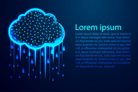 Print on Demand: Raining Cloud Abstract Low Poly Graphic Backgrounds By ojosujono96