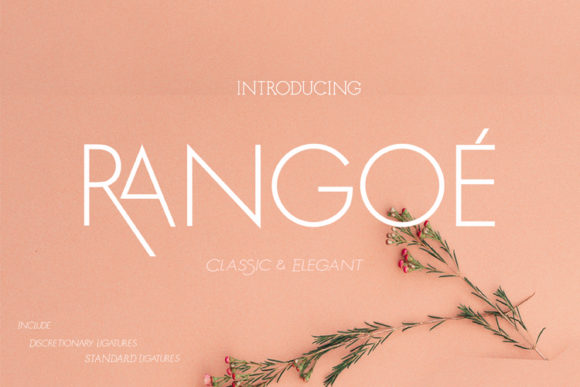 Print on Demand: Rangoe Display Font By ed.creative
