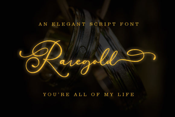 Print on Demand: Raregold Script & Handwritten Font By aldedesign
