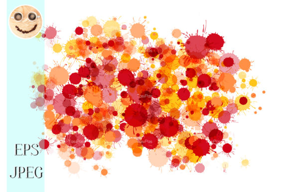 Download Free Red Orange Yellow Watercolor Drops Graphic By Tasipas SVG Cut Files