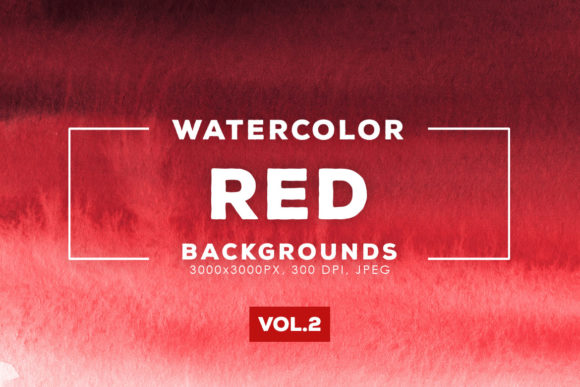 Download Free Red Watercolor Backgrounds 2 Graphic By Artistmef Creative Fabrica for Cricut Explore, Silhouette and other cutting machines.