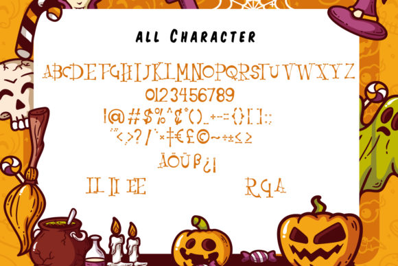 Print on Demand: Resquro Halloween Serif Font By Vunira - Image 6