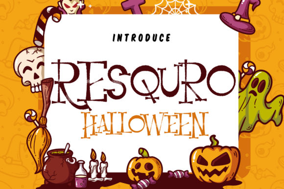 Print on Demand: Resquro Halloween Serif Font By Vunira