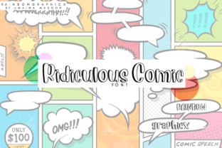Ridiculous Comic Font By RainbowGraphicx