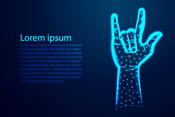 Print on Demand: Rock Sign Gesture for Music Festival Graphic Backgrounds By ojosujono96