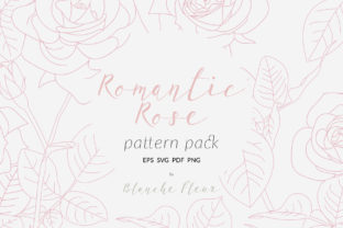 Romantic Rose Pattern Pack Graphic By nantia