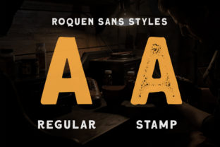 Print on Demand: Roquen Display Font By letterhend 3