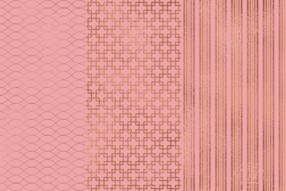 Rose Gold Pink Seamless Patterns Graphic Patterns By BonaDesigns - Image 2