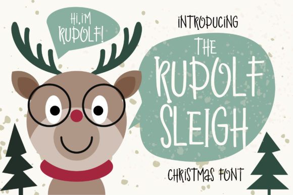 Print on Demand: Rudolf Sleigh Script & Handwritten Font By Caoca Studios - Image 1