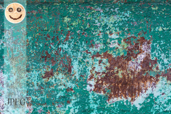 Print on Demand: Rusted Metal Background Graphic Industrial By TasiPas