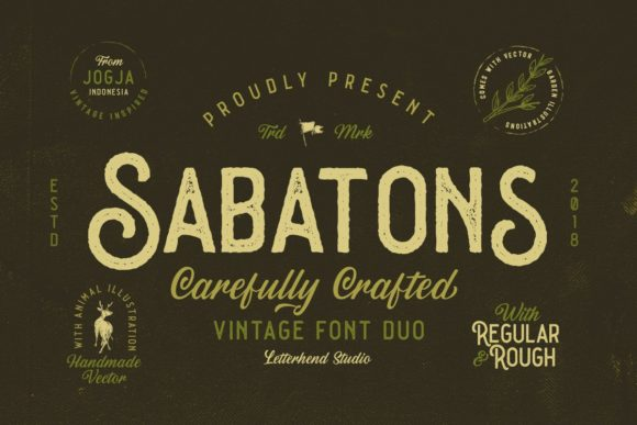 Print on Demand: Sabatons Sans Serif Font By letterhend