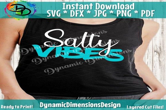 Download Free Salty Vibes Graphic By Dynamicdimensions Creative Fabrica for Cricut Explore, Silhouette and other cutting machines.
