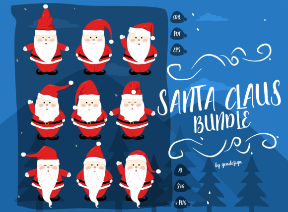 Santa Claus Bundle Graphic By geadesign Image 1