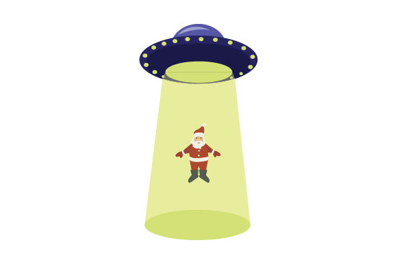 Download Free Santa Being Abducted By Ufo Svg Cut File By Creative Fabrica for Cricut Explore, Silhouette and other cutting machines.