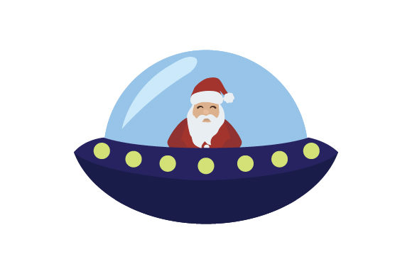 Download Free Santa Flying Ufo Svg Cut File By Creative Fabrica Crafts Creative Fabrica for Cricut Explore, Silhouette and other cutting machines.