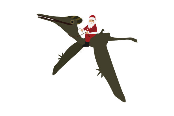 Download Free Santa Riding Pterodactylus Svg Cut File By Creative Fabrica for Cricut Explore, Silhouette and other cutting machines.