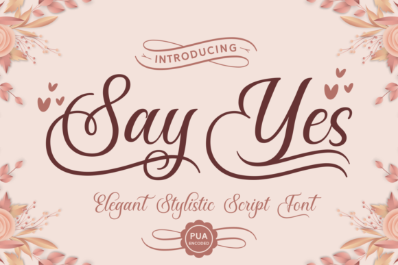 Print on Demand: Say Yes Script & Handwritten Font By Situjuh