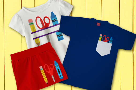 School Supply Trio  Graphic Crafts By DesignedByGeeks