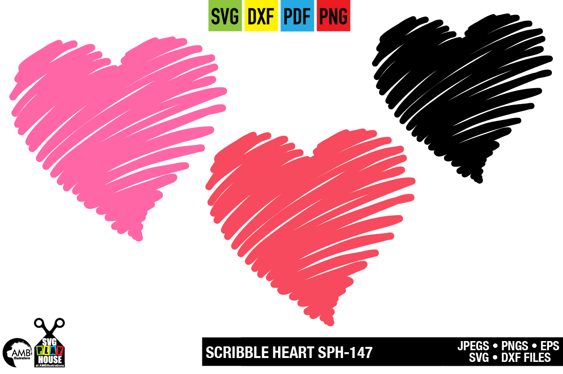 Download Free Scribble My Heart Graphic By Ambillustrations Creative Fabrica for Cricut Explore, Silhouette and other cutting machines.