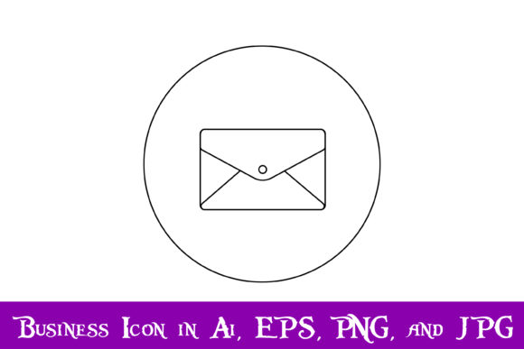 Download Free Sealed Envelope Icon Graphic By Purplespoonpirates Creative Fabrica for Cricut Explore, Silhouette and other cutting machines.
