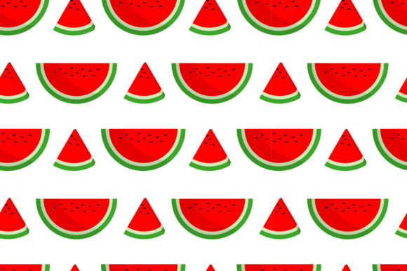Print on Demand: Seamless Pattern of Watermelon Slices Graphic Patterns By sabavector