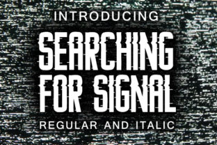 Searching for Signal Font By vladimirnikolic