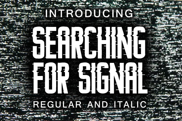 Print on Demand: Searching for Signal Decorative Font By vladimirnikolic