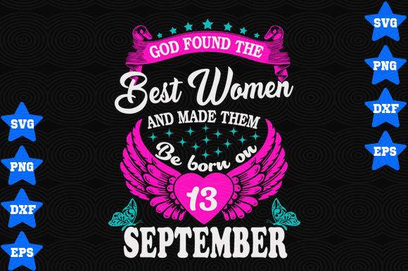 Download Free September 13 Birthday Graphic By Awesomedesign Creative Fabrica SVG Cut Files