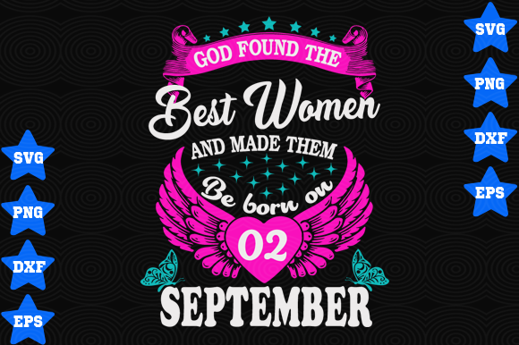 September 2 Birthday Graphic By Awesomedesign Creative Fabrica