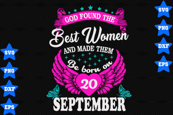 Download Free September 20 Birthday Graphic By Awesomedesign Creative Fabrica for Cricut Explore, Silhouette and other cutting machines.
