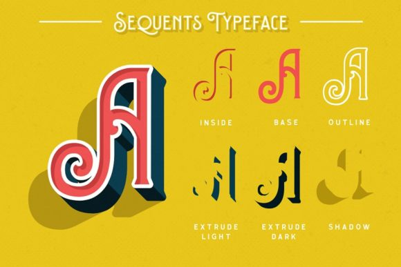 Print on Demand: Sequents Display Font By letterhend - Image 2