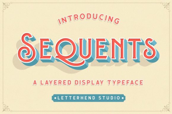 Print on Demand: Sequents Display Schriftarten von letterhend