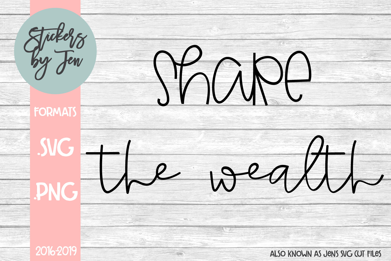 Download Free Share The Wealth Graphic By Stickers By Jennifer Creative Fabrica for Cricut Explore, Silhouette and other cutting machines.
