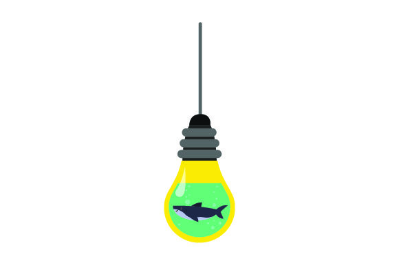 Download Free Shark In Light Bulb Svg Cut File By Creative Fabrica Crafts for Cricut Explore, Silhouette and other cutting machines.