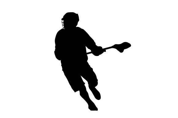 Silhouette of Mens Lacrosse Player Sports Craft Cut File By Creative Fabrica Crafts