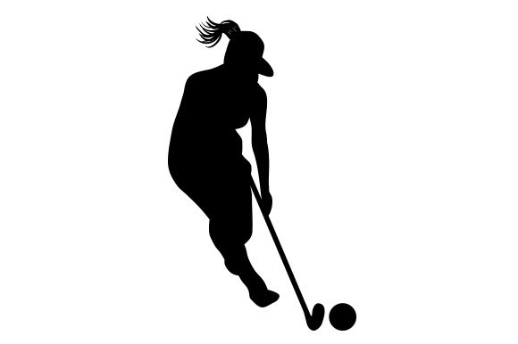 Download Free Silhouette Of Womens Field Hockey Player Svg Cut File By for Cricut Explore, Silhouette and other cutting machines.