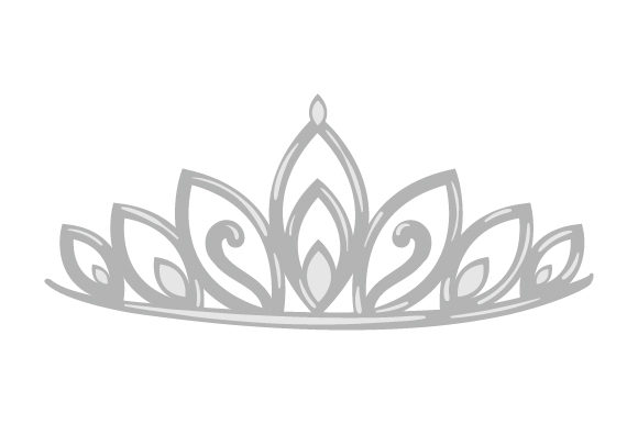 Silver Tiara Beauty & Fashion Craft Cut File By Creative Fabrica Crafts