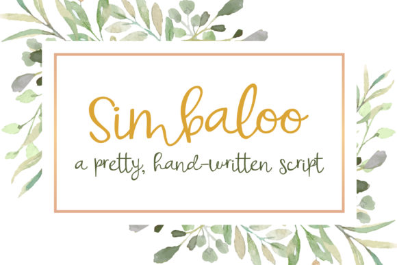 Print on Demand: Simbaloo Script & Handwritten Font By Illustration Ink - Image 1