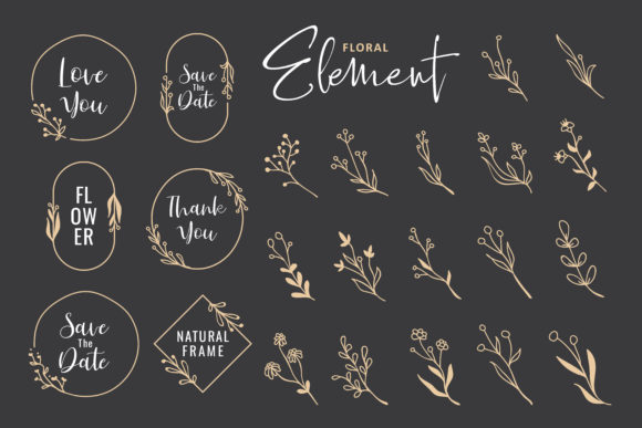 Simple Hand Drawn Floral Vector