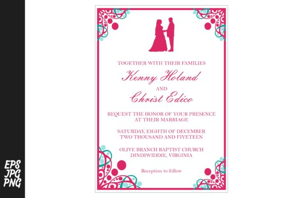 Download Free Simple Wedding Invitation Template Graphic By Arief Sapta Adjie SVG Cut Files