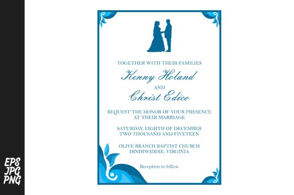 Download Free Simple Wedding Invitation Template Graphic By Arief Sapta Adjie for Cricut Explore, Silhouette and other cutting machines.