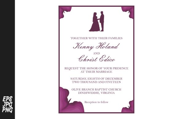 Wedding Invitation Template.Simple Wedding Invitation Template