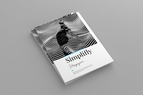 Download Free Lifestyle Magazine Template Graphic By Iwanraj Creative Fabrica for Cricut Explore, Silhouette and other cutting machines.